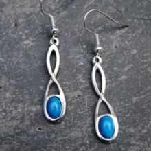Celtic twist knot earrings with turquoise E17